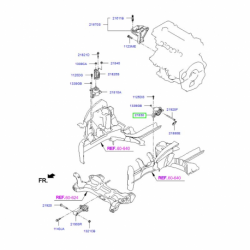 ولوستر دسته موتور چپ (گیربکس) MOBIS